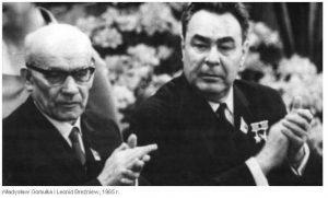 Владислав Гомулка и Леонид Брежнев