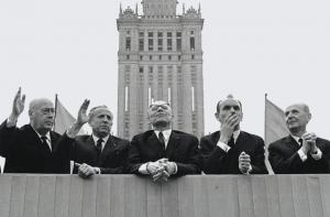 Лидеры ЦК ПОРП, в центре — Владислав Гомулка