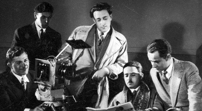 Режиссер Михал Вашыньски (в центре), 1930-е годы.