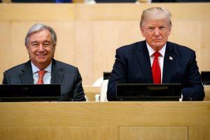 Генсек ООН Антониу Гутерреш и президент США Дональд Трамп в деле реорганизации ООН полны оптимизма