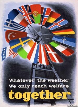 Пропагандистский плакат, посвященный «плану Маршалла», 1948 год