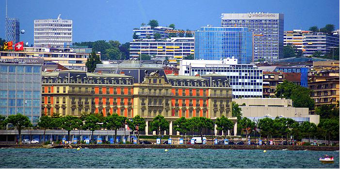 Женева. Дворец Вильсона (в центре), где располагается штаб-квартира УВК ООН по правам человека