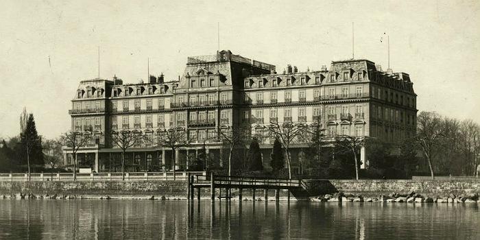Штаб-квартира Лиги Наций на берегу Женевского озера. 1920-е гг