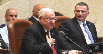 Выступление президента Р.Ривлина на открытии зимней сессии Кнесета
