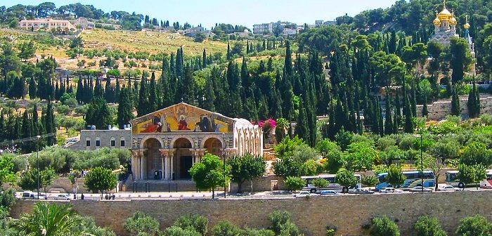 Иерусалим. Спуск с Масличной горы в Кедронскую долину