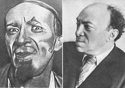 Соломон Михоэлс в театре – в 1922 году, и в жизни – за день до гибели