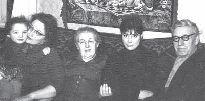 Татьяна Самойлова с семьей Соломона Шульмана — родителями и сестрой