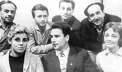 Александр Галич с группой актеров фильма «На семи ветрах» в Ростове-на- Дону