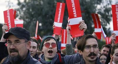 Акция сторонников Навального в Петербурге
