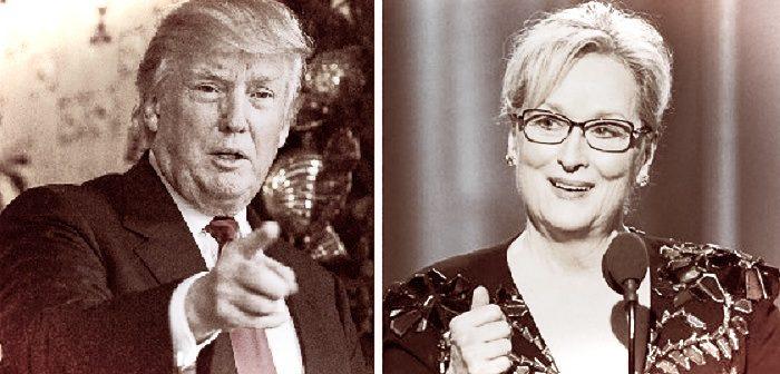Дональд Трамп и Мерил Стрип