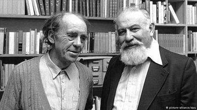 Лев Копелев (справа) и Генрих Белль