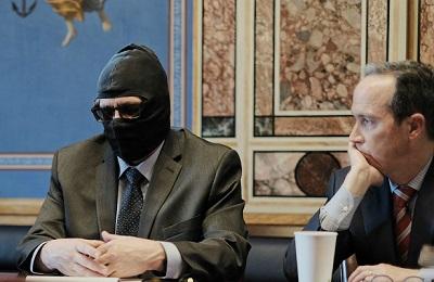 Григорий Родченков пришел на встречу с сенаторами США в маске