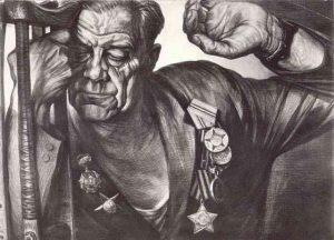 Разведчик Виктор Попков Рисунок Народного художника России Геннадия Доброва