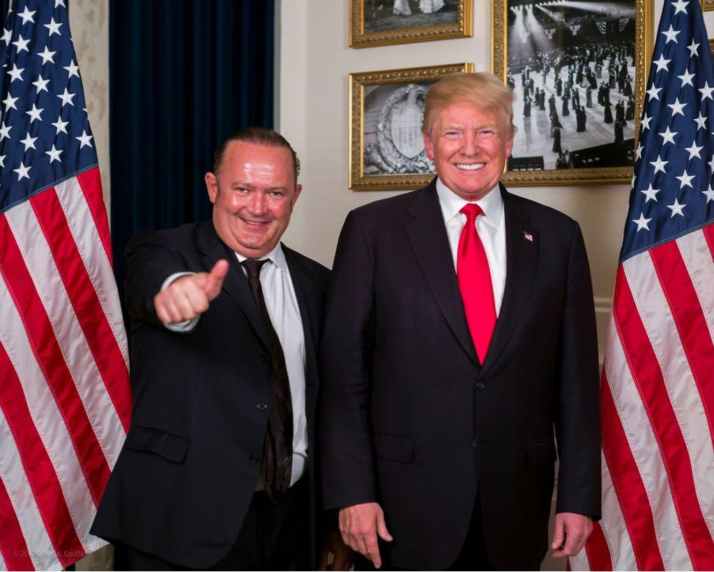 Игорь Фруман и Дональд Трамп после встречи в личной резиденции президента США во Флориде, май 2018 г.