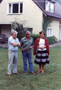 Владимир Войнович и Виктор Некрасов, Мюнхен, 1983. Фотография Виктора Кондырева