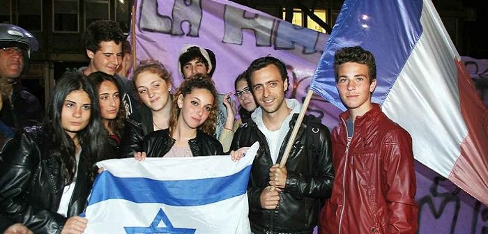 Группа молодых олим из Франции