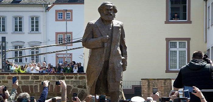 Открытие памятника Марксу в Трире (Германия). Май 2018 г.