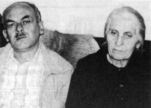 Булат Окуджава с мамой