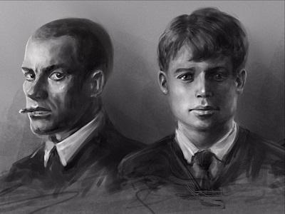 Маяковский и Есенин