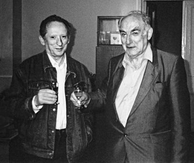 Исаак Халатников и Виталий Гинзбург (справа)
