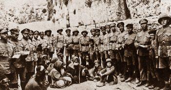 Декабрь 1917 г. Бойцы Еврейского легиона Британской армии в освобожденном от турок Иерусалиме