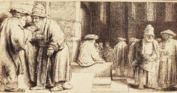 Рембрандт. Евреи в Амстердамской синагоге
