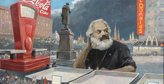 Так крушение левизны в России виделось художнику Петру Белову в 1990-х