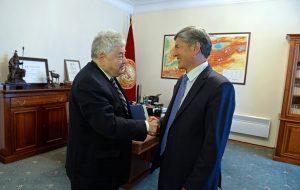 Ефим Якир с бывшим президентом Киргизии