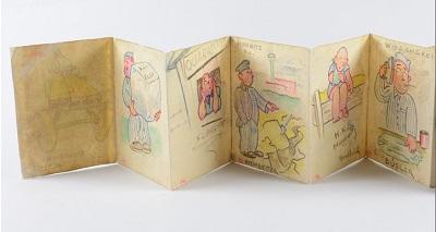 Иллюстрированная открытка, созданная в Освенциме. Коллекция артефактов, «Яд Вашем». Предоставлено Бенджамином Колтоном, США
