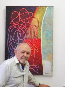 Владимир (Давид) Кругман, художник-живописец и плакатист, дизайнер, бывший главный художник города Фрунзе, столицы Киргизии, автор фонтана, изображение которого сопровождает все главы этого очерка