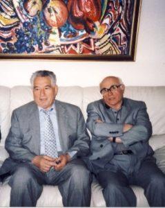 Профессор Л.Левитин и писатель Ч.Айтматов в Германии