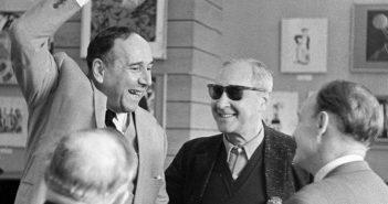 Народные артисты СССР Ростислав Плятт и Сергей Юткевич
