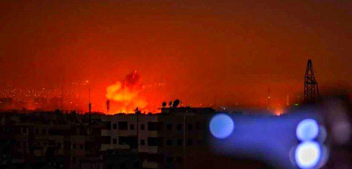 Израильская бомбардировка иранского военного объекта в Сирии. Май 2019