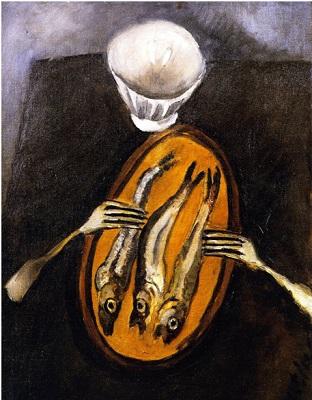 Хаим Сутин. Натюрморт с селедками. 1916 Photo: Jason Mandella