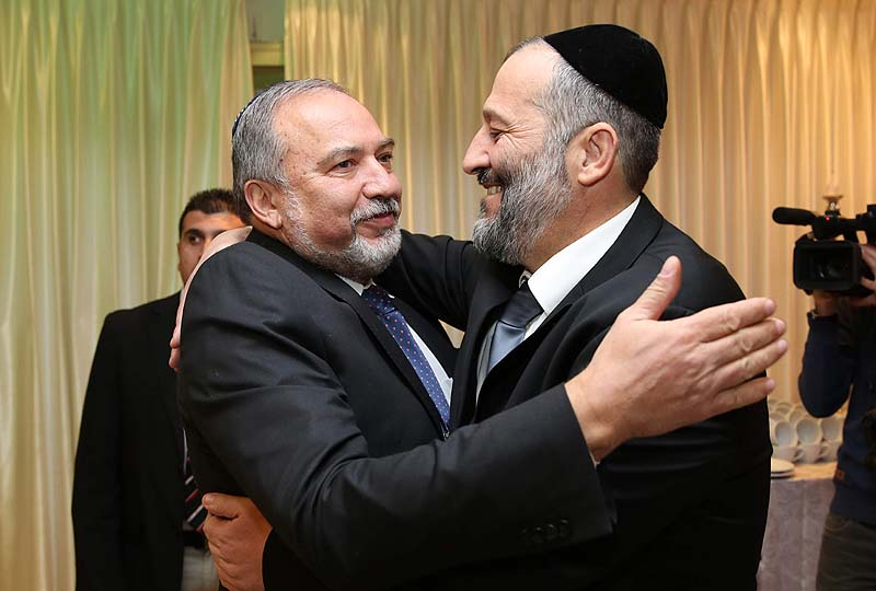 Haredi-leader-Aryeh-Deri-Shas-with-Avigdor-Liberman-Israel-Beiteinu