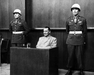 Нюрнбергский процесс. Показания дает Геринг