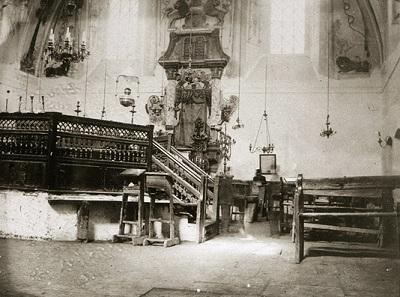 Молитвенный зал синагоги, 1920-е годы