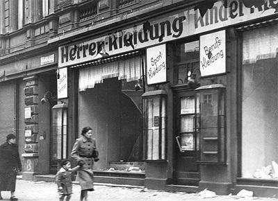 «Хрустальная ночь» в Германии. Фото: klaipeda1945.org