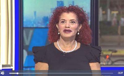 Адвокат Пнина Гай разъясняет в телестудии Walla позицию прокуратуры по поводу требования Ларисы Амир о пересмотре дела