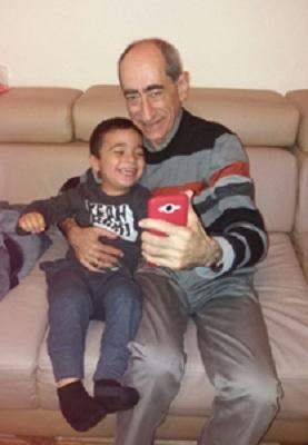 С внуком Натанэлем
