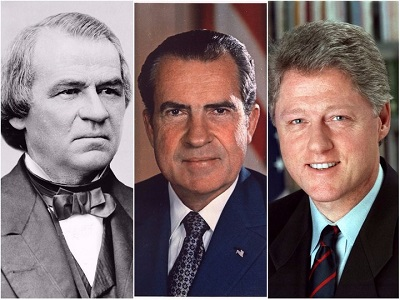 Фото: Эндрю Джонсон, Ричард Никсон и Билл Клинтон. Коллаж TUT.BY