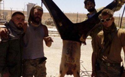 Вагнеровцы с трупом замученного сирийца