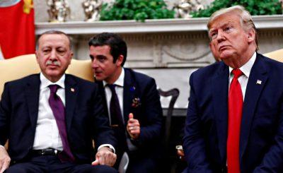 Президент США Д.Трамп принимает в Белом Доме президента ТР Т.Эрдогана. 13.11.2019