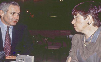 Автор берет интервью у Б.Нетаниягу. 1992 г