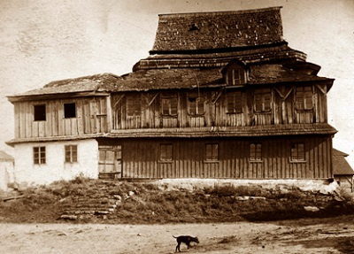 Лянцкорунь, старая синагога XVIII века. Фото 1930 г.