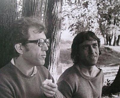 А.Митта и В.Высоцкий на съемках фильма «Сказ про то, как царь Петр арапа женил»