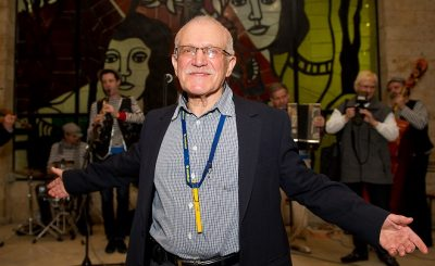 Режиссер Александр Митта во время творческого вечера, посвященного его 80-летнему юбилею, в Доме кино.