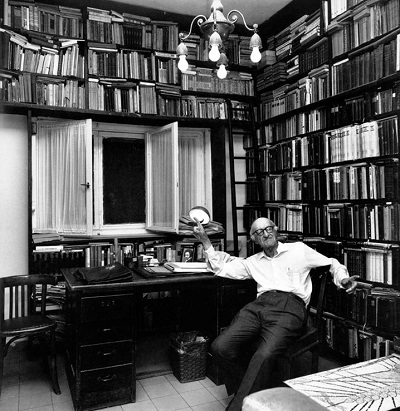 Йешаяу Лейбович в своем рабочем кабинете. Фредерика Бреннера. 1980-е годы Фото: lechaim.ru