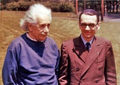 Курт Гедель и Альберт Эйнштейн. Фото: ic.pics.livejournal.com