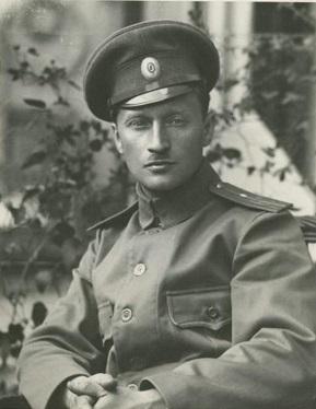 Фотограф А.Д.Гринберг в форме прапорщика. Фото: wikipedia.org